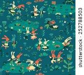 vector background with dancing... | Shutterstock .eps vector #252788503