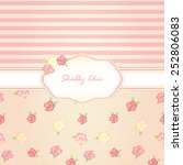 shabby chic. background. card | Shutterstock .eps vector #252806083