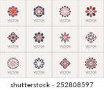 geometric logo template set.... | Shutterstock .eps vector #252808597