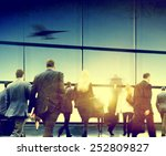 business people rushing walking ... | Shutterstock . vector #252809827