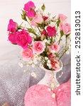beautiful roses in vase  close... | Shutterstock . vector #252813013