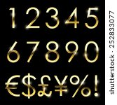 vector gold font with... | Shutterstock .eps vector #252833077