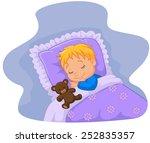 cartoon baby sleeping with...   Shutterstock .eps vector #252835357