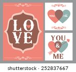 happy valentines day cards with ...   Shutterstock .eps vector #252837667