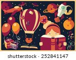 background with imagination... | Shutterstock .eps vector #252841147