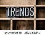 """the word """"trends"""" written in...   Shutterstock . vector #252858343"""