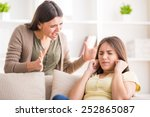 problems between generations... | Shutterstock . vector #252865087