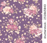 seamless floral pattern with...   Shutterstock . vector #252865843