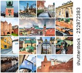 collage of photos from warsaw | Shutterstock . vector #252872383