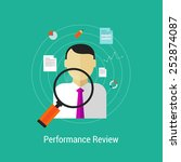 employee performance review... | Shutterstock .eps vector #252874087