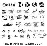 hand drawn set.  catchwords ... | Shutterstock .eps vector #252883807