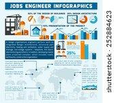 engineer infographics set with... | Shutterstock .eps vector #252884623