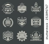 assorted retro design insignias ... | Shutterstock .eps vector #252890767