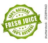 natural fresh juice label | Shutterstock .eps vector #252894463