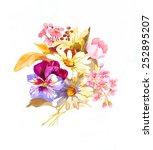 yellow pink budget | Shutterstock . vector #252895207