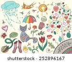 spring romantic collection. | Shutterstock .eps vector #252896167