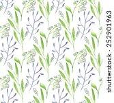 watercolor branch flower... | Shutterstock .eps vector #252901963