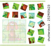 jigsaw puzzle game for children ... | Shutterstock .eps vector #252905623