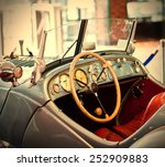 fragment of a gray blue vintage ... | Shutterstock . vector #252909883