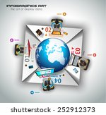 infographic teamwork and... | Shutterstock .eps vector #252912373