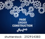 page under construction... | Shutterstock .eps vector #252914383