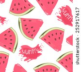 Slices Of Watermelon Seamless...