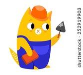 vector illustration of a cat ... | Shutterstock .eps vector #252919903