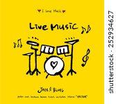 hand drawn music poster... | Shutterstock .eps vector #252934627