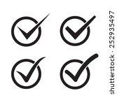 set of check mark  check box...   Shutterstock .eps vector #252935497