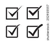 set of check mark  check box...   Shutterstock .eps vector #252935557