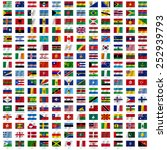 flags of the world and  map on... | Shutterstock .eps vector #252939793