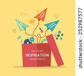 inspiration concept vector... | Shutterstock .eps vector #252987577