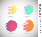 set of halftone vector... | Shutterstock .eps vector #252994537