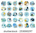 icons set banners for business... | Shutterstock .eps vector #253000297