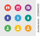 material design style icons... | Shutterstock .eps vector #253004353