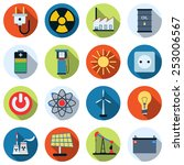 a set of colorful energy and... | Shutterstock .eps vector #253006567