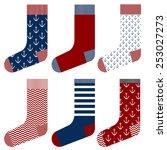 Sailor Socks Design Set  Sea...