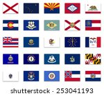 usa state button flag... | Shutterstock .eps vector #253041193