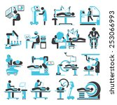 robotic surgery icons set ... | Shutterstock .eps vector #253066993