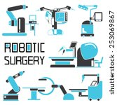 robot assisted surgery set ... | Shutterstock .eps vector #253069867
