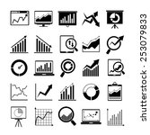 data icons  graph and chart... | Shutterstock .eps vector #253079833