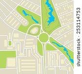 city map. schematic... | Shutterstock .eps vector #253114753