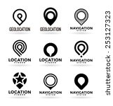set of map pointers  1  | Shutterstock .eps vector #253127323