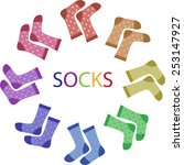 socks vector sock | Shutterstock .eps vector #253147927