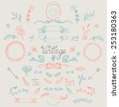 hand drawn vintage elements | Shutterstock .eps vector #253180363