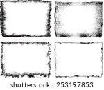 grunge frame set. vector... | Shutterstock .eps vector #253197853