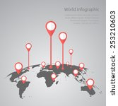 world map infographic... | Shutterstock .eps vector #253210603