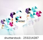 geometric abstract polygonal... | Shutterstock . vector #253214287