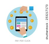 pay per click internet... | Shutterstock . vector #253217173