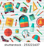 back to school background.... | Shutterstock .eps vector #253221637